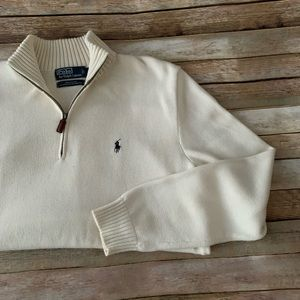 Polo Ralph Lauren 1/4 zip large pullover sweater